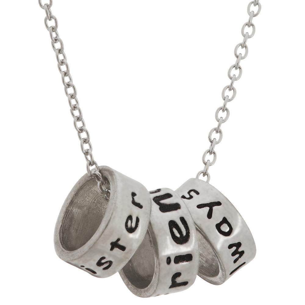 Sisters Friends Always Pewter Necklace