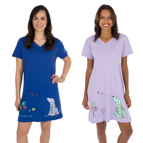 Smell The Flowers Dog Nightshirt