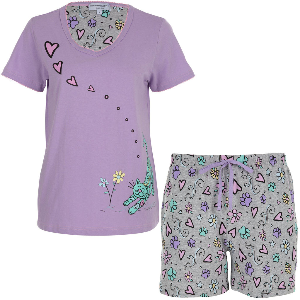 Smell The Flowers Pet Pajama Shorts Set