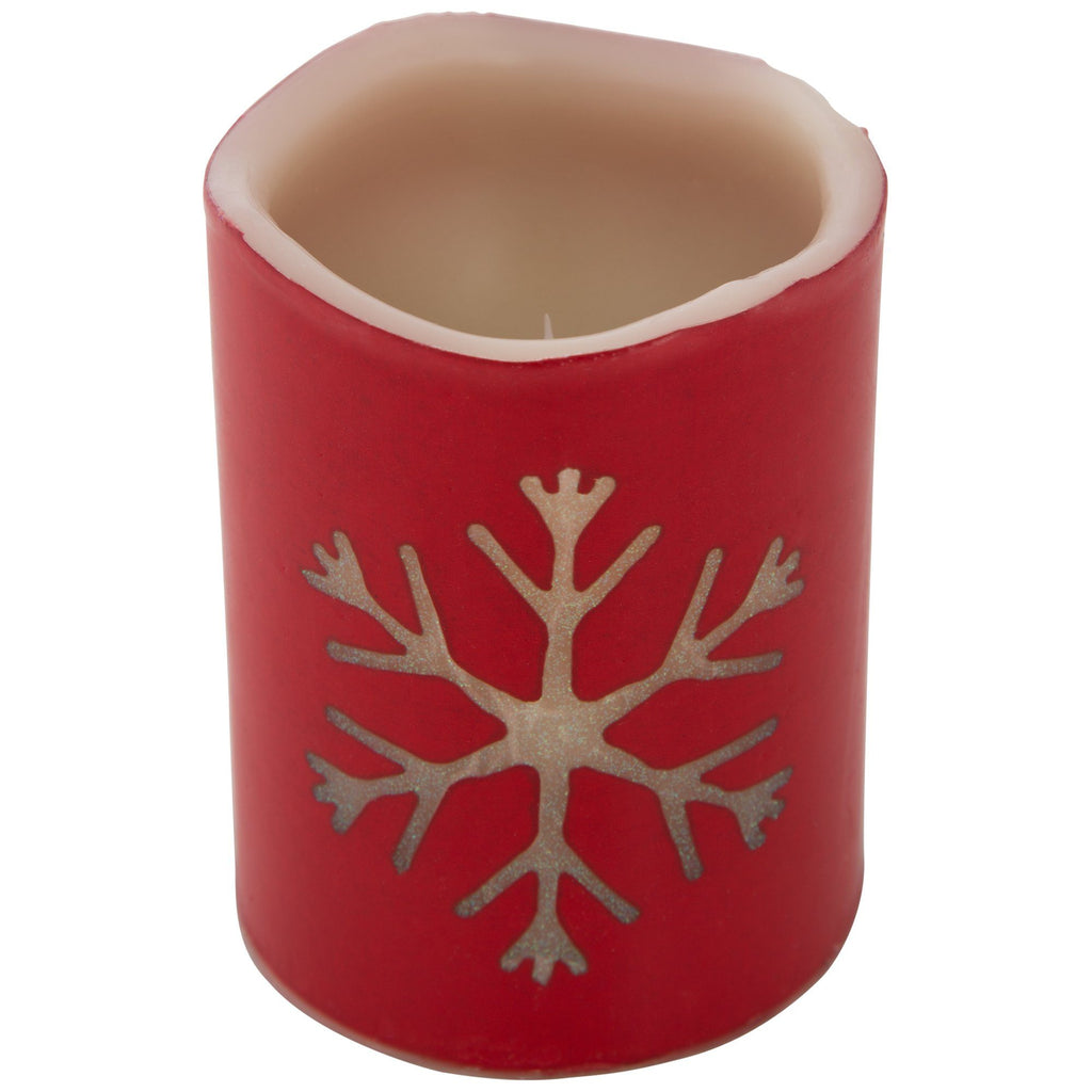 Snowflake LED Candle