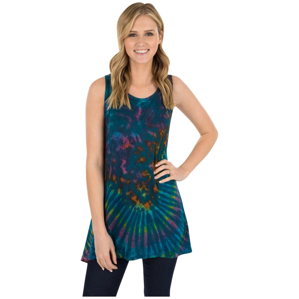 Soft Tie Dye Sleeveless Tunic