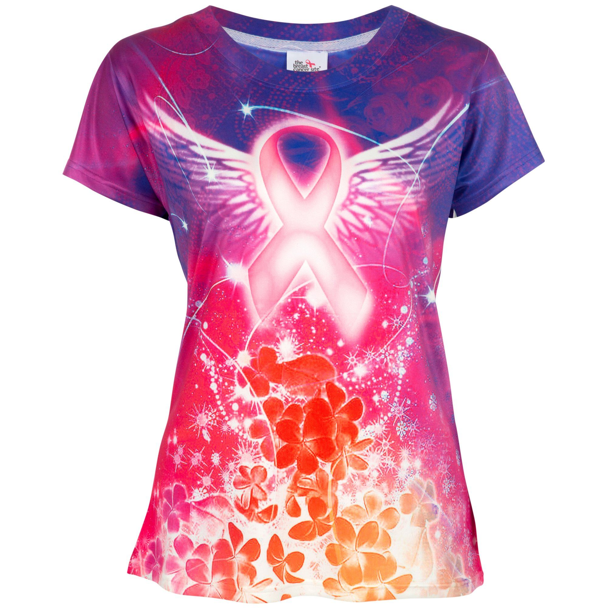 Spirit Wings Pink Ribbon Tee ...