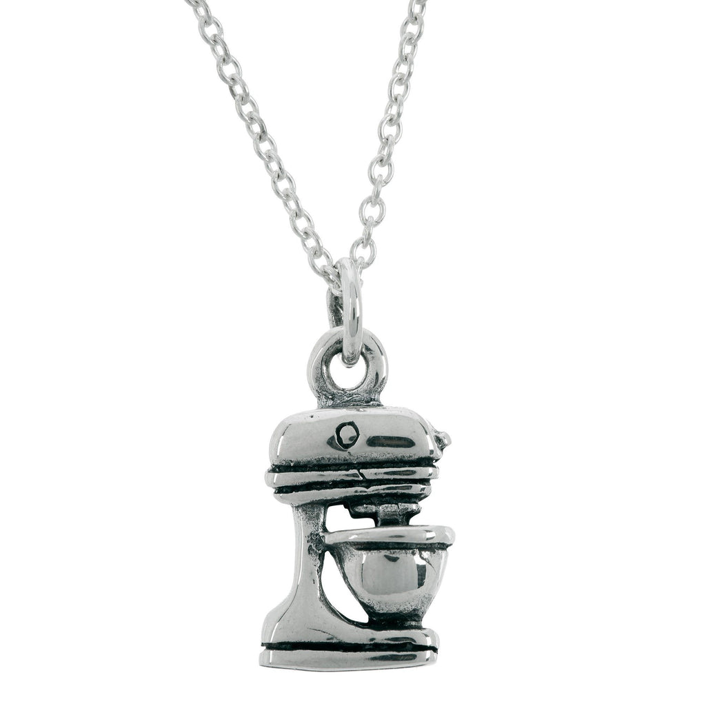 Stand Mixer Sterling Necklace