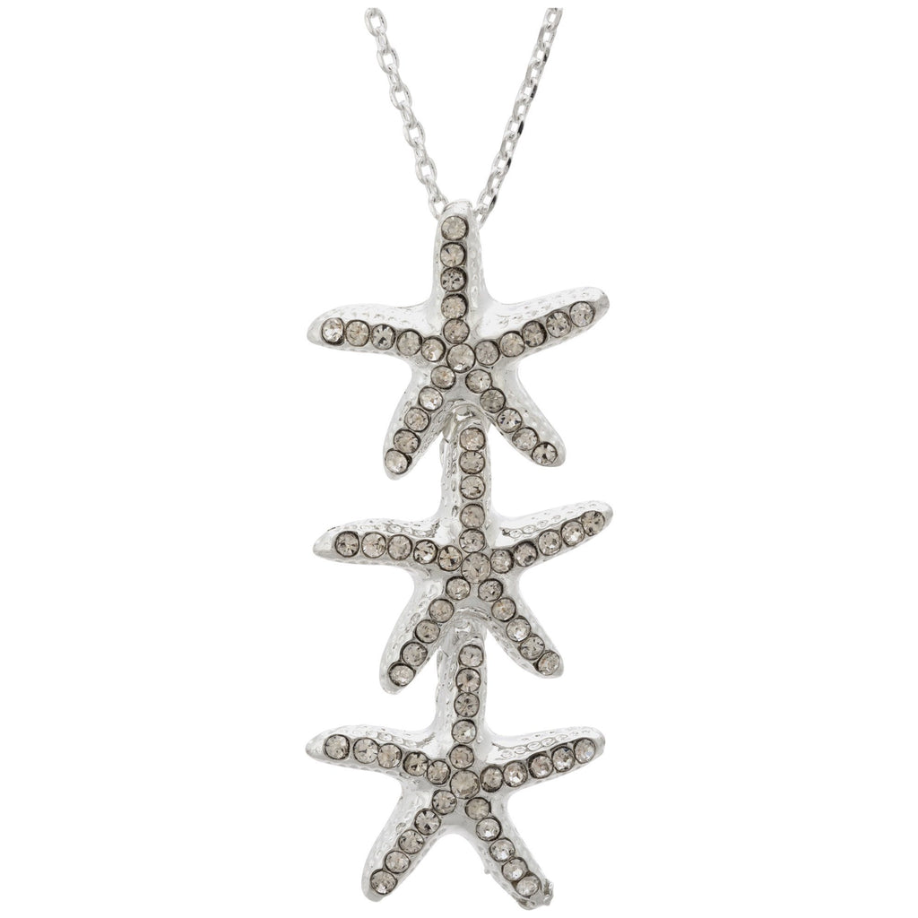 Starfish Trio Sterling Necklace