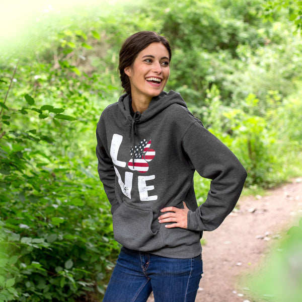 Stars & Stripes Love Paw Hooded Sweatshirt