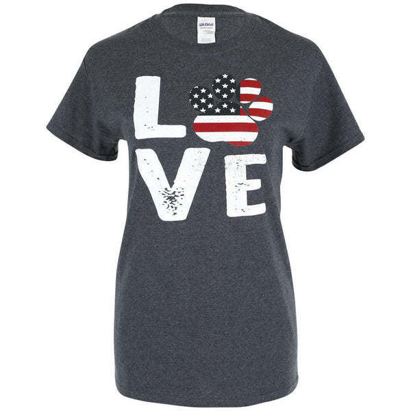 Stars & Stripes Love Paw T-Shirt