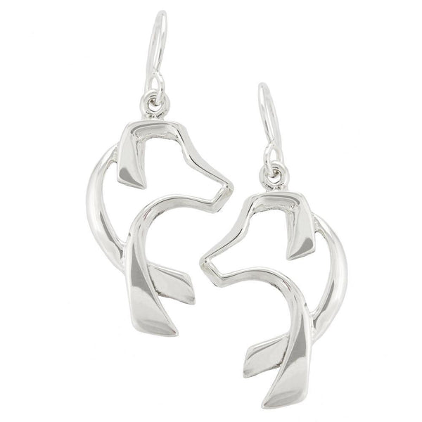 Sterling Dog Silhouette Earrings