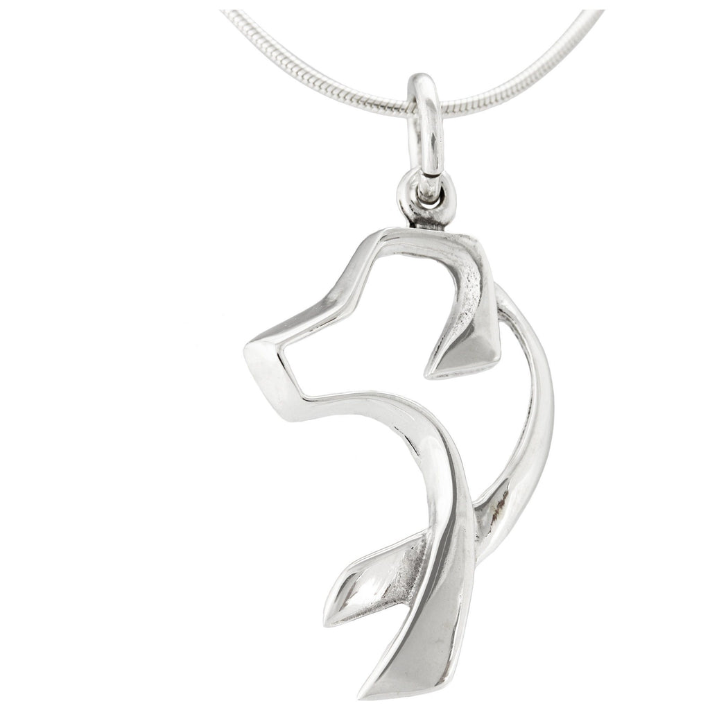 Sterling Dog Silhouette Necklace