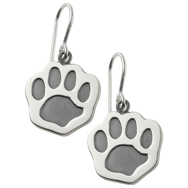 Sterling Paw Earrings