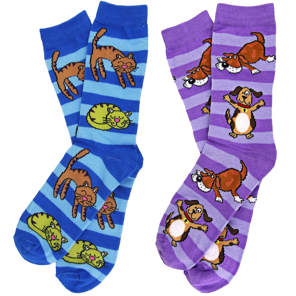 Striped Dog & Cat Socks
