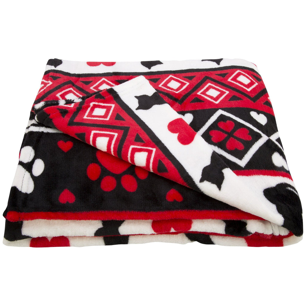 Super Cozy™ Merry Paws Throw Blanket
