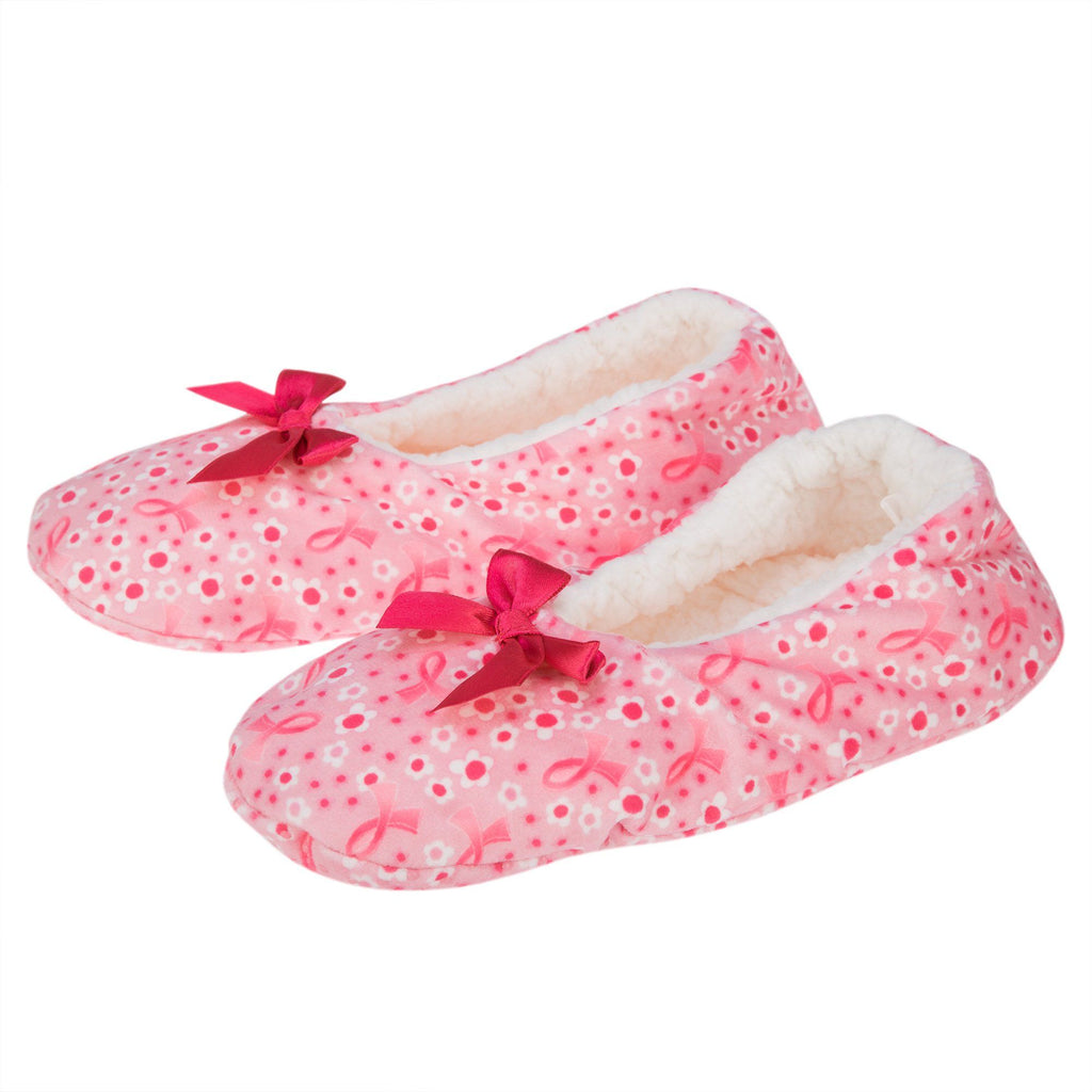 Super Cozy™ Pink Ribbon Slippers