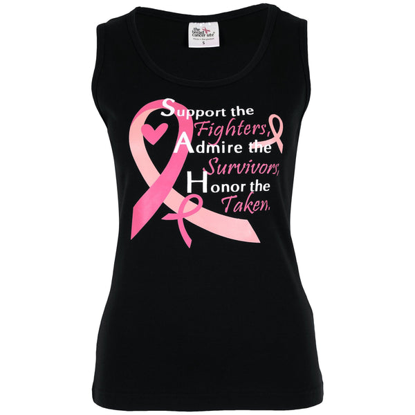 Support Admire Honor Pink Ribbon Tank Top