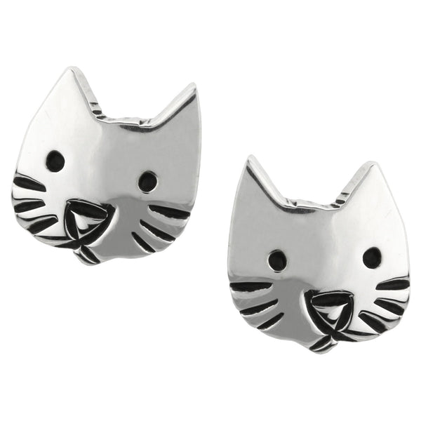 Sweet Cat Face Sterling Earrings