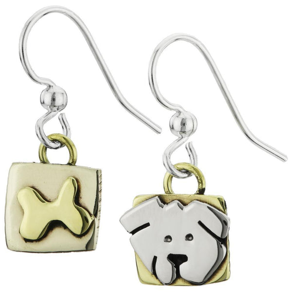 Sweet Dog & Bone Earrings