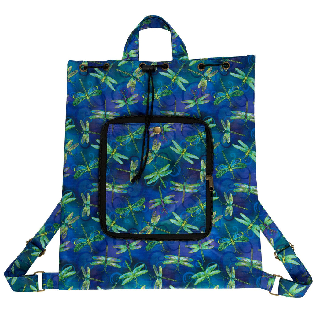 Swirling Dragonflies Packable Backpack