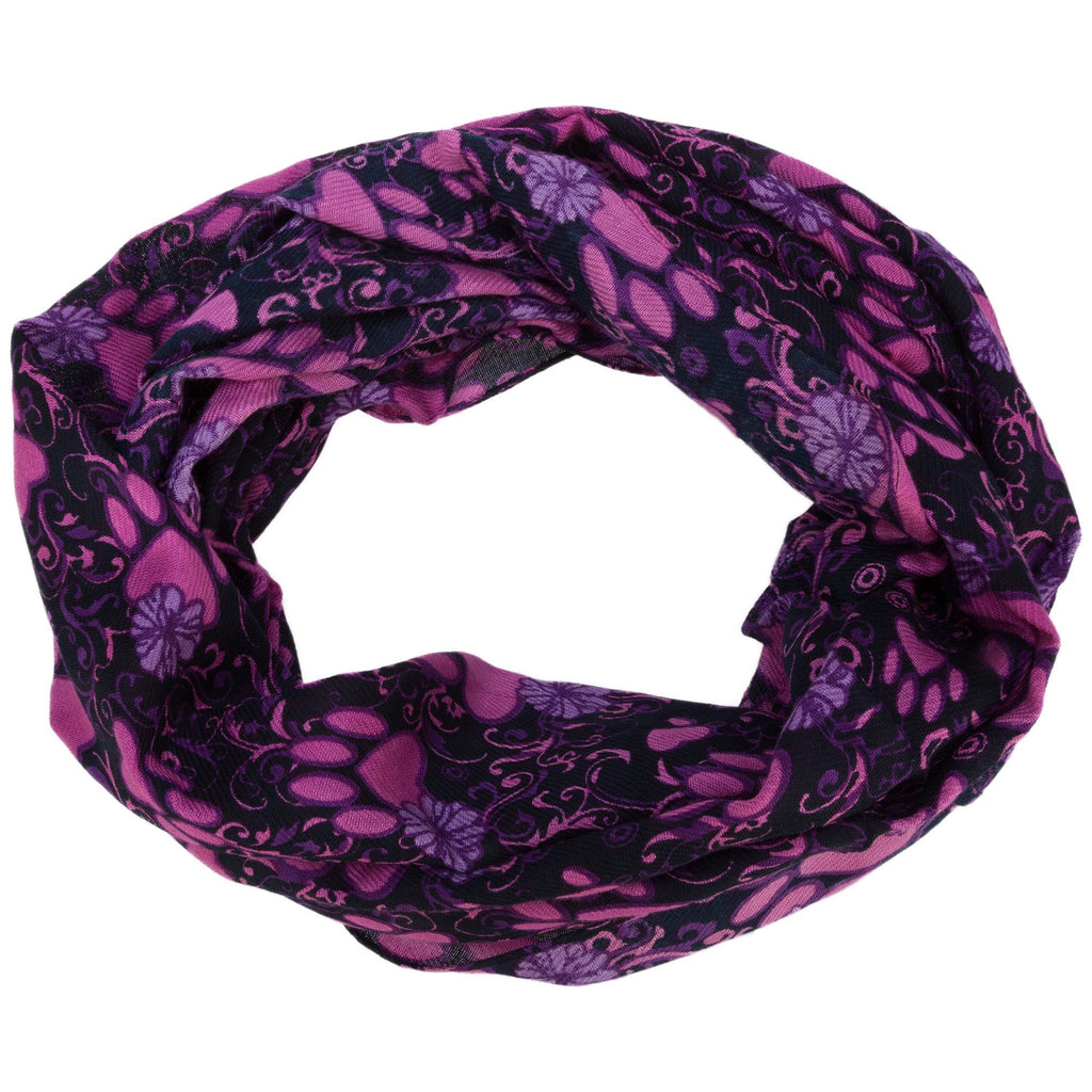 Swirling Paws Infinity Scarf