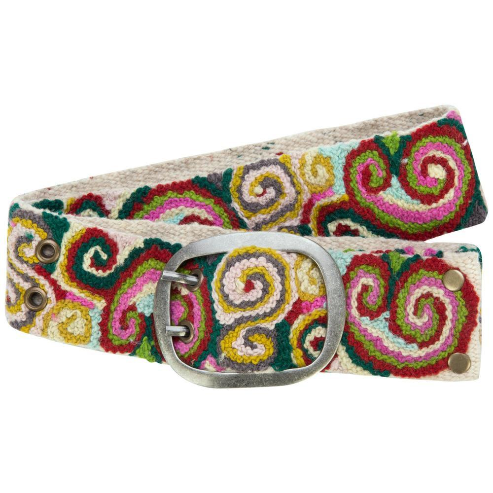 Swirling Sensations Embroidered Belt