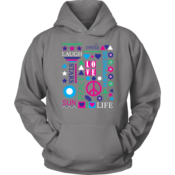 T-shirt - Color Pop Of Peace Hoodie