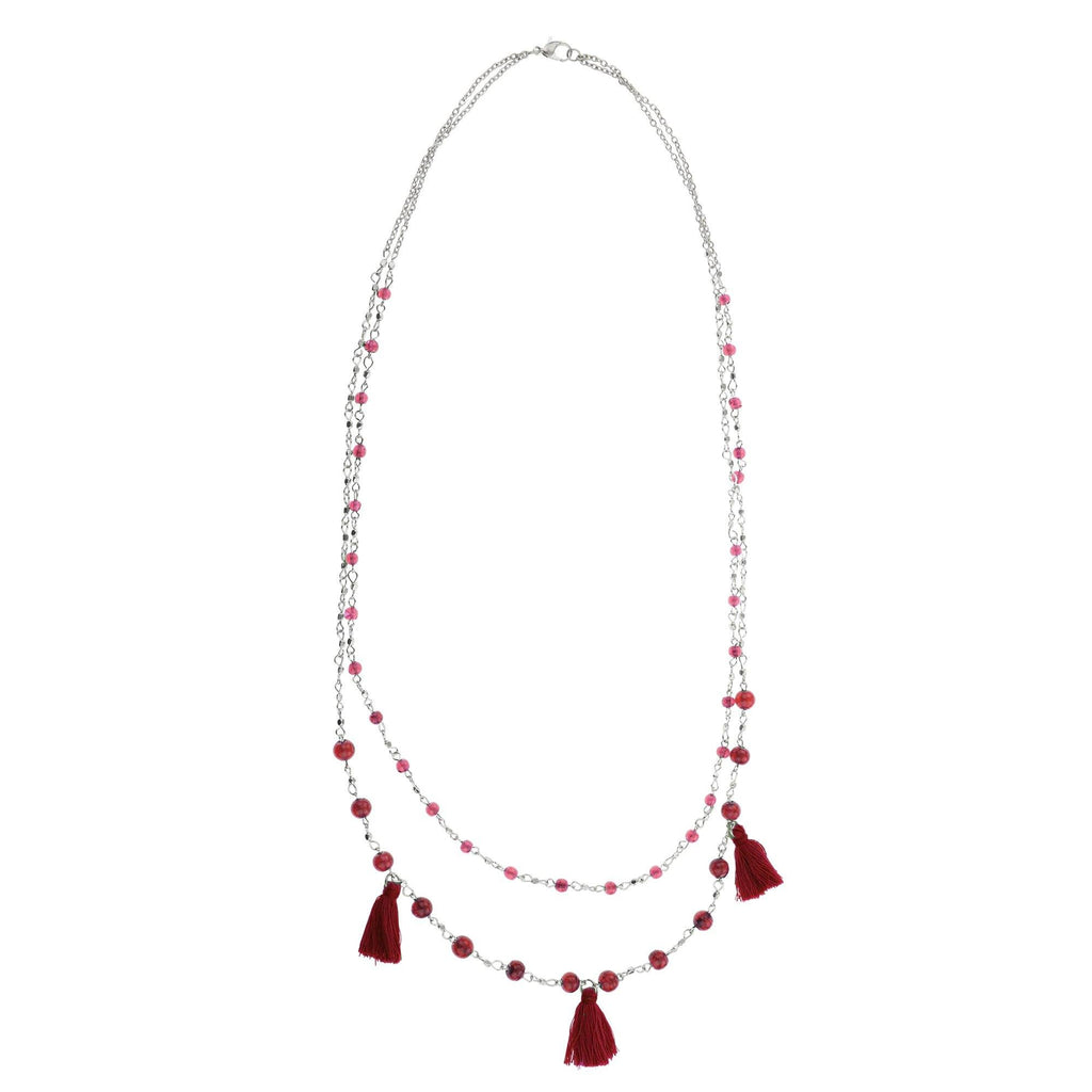 Taj Tassel Necklace