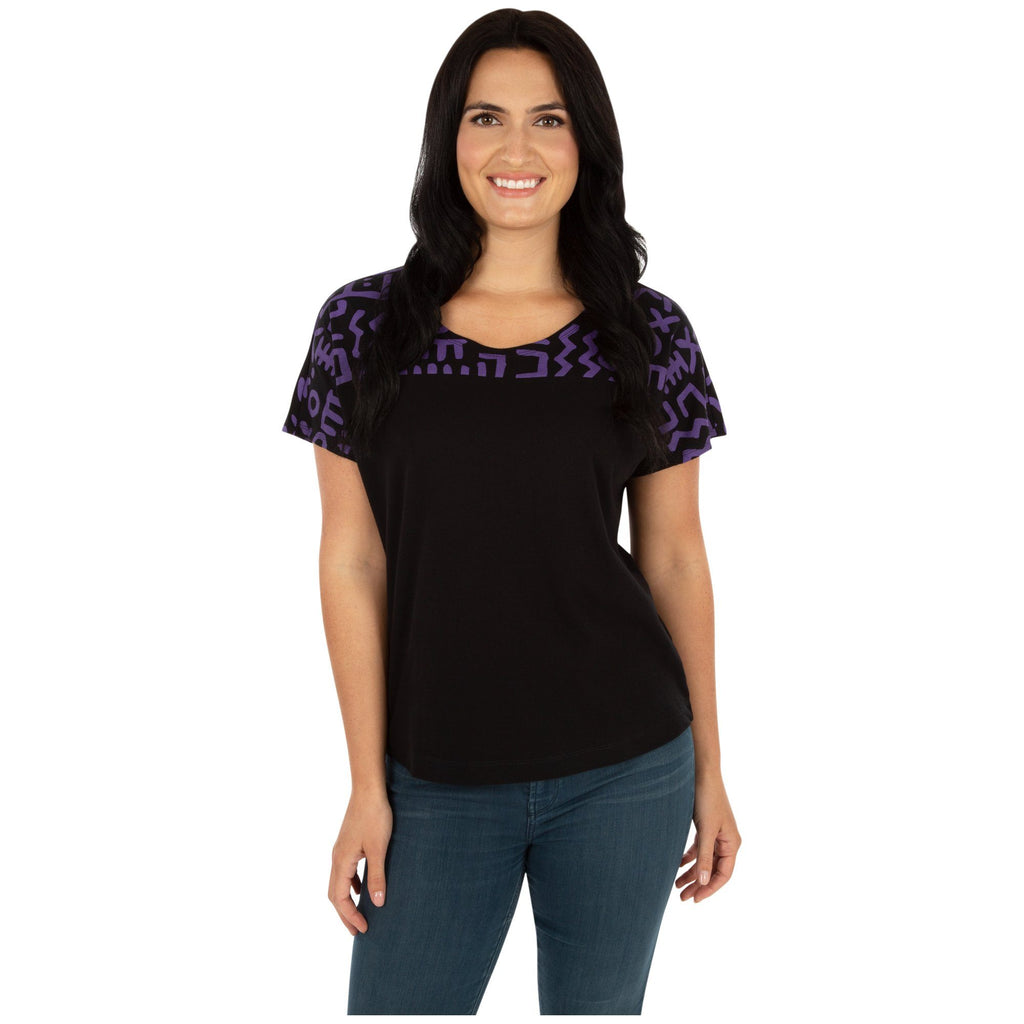 Textile Traditions Printed Plum Top