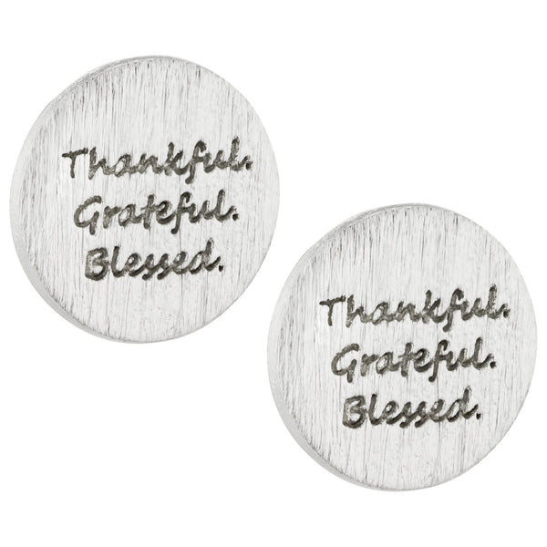 Thankful Grateful Blessed Earrings