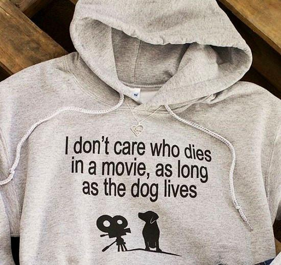 The Dog Lives Hooded Sweatshirt