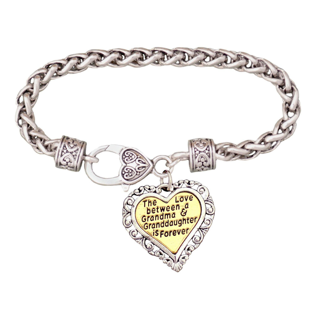 The Love Between Us Pewter Bracelet