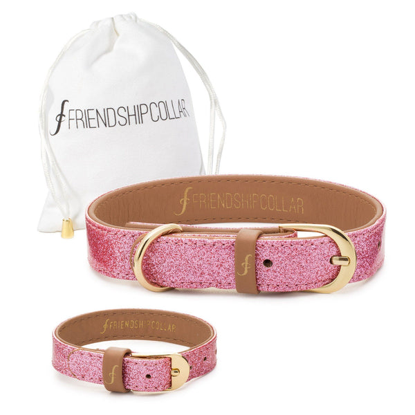 The Sparkling Pink Friendship Collar & Bracelet Set