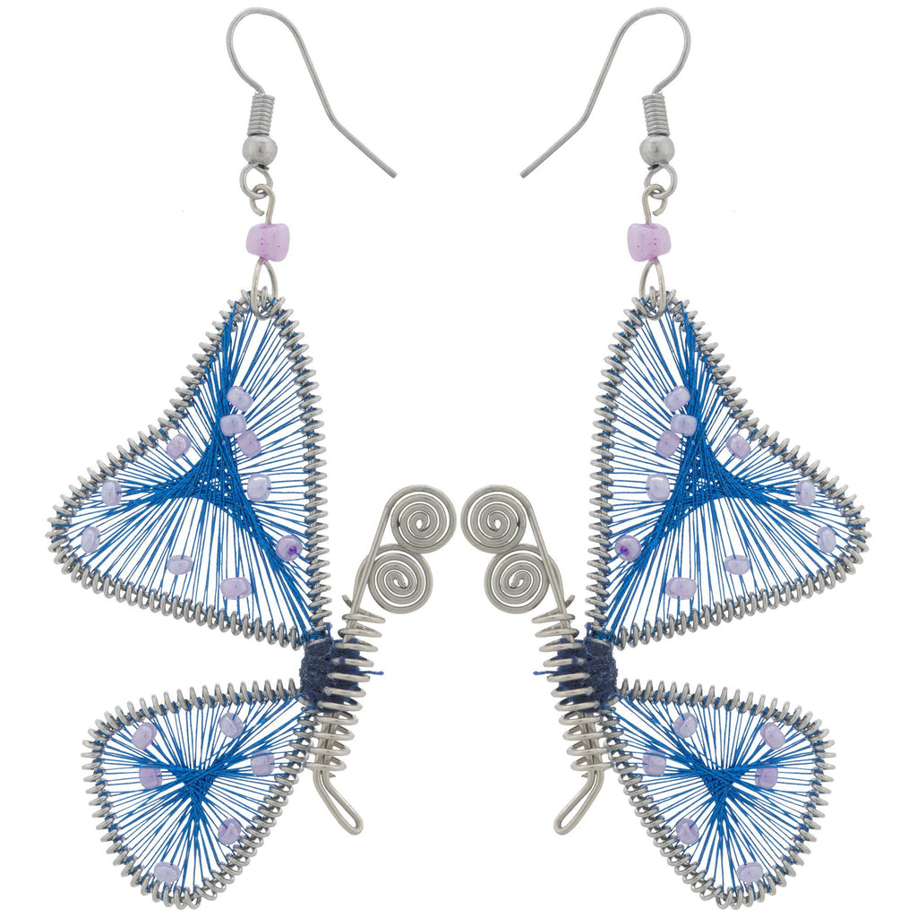 Threaded Butterfly Earrings