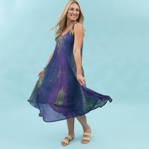 Tie Dye Prism Sleeveless Maxi Dress