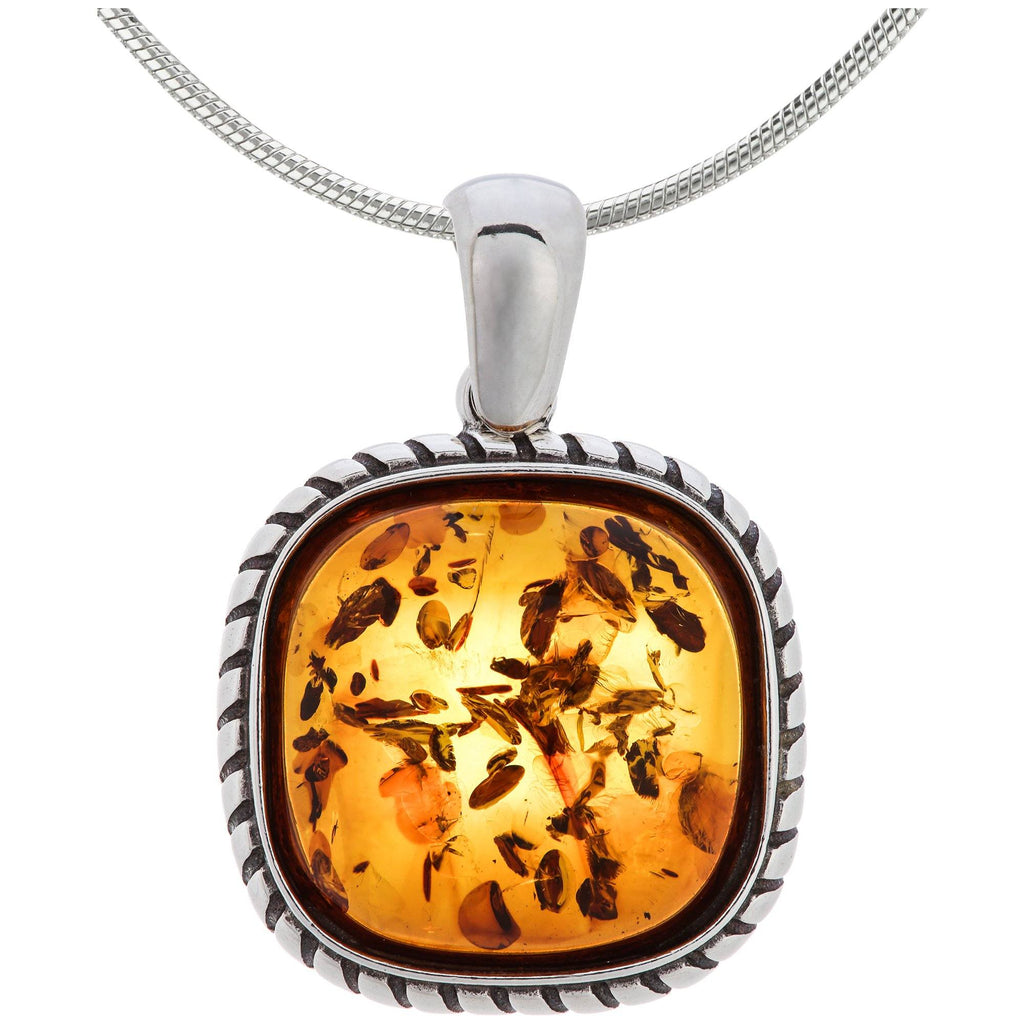 Timeless Amber & Sterling Necklace
