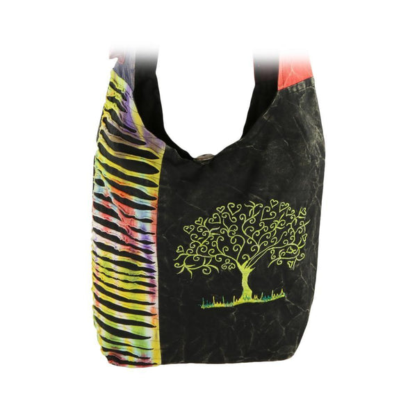 Tree Of Life Embroidered Hobo Bag
