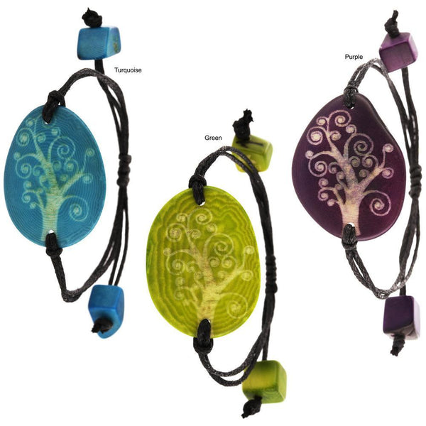 Tree Of Life Etched Tagua Bracelet
