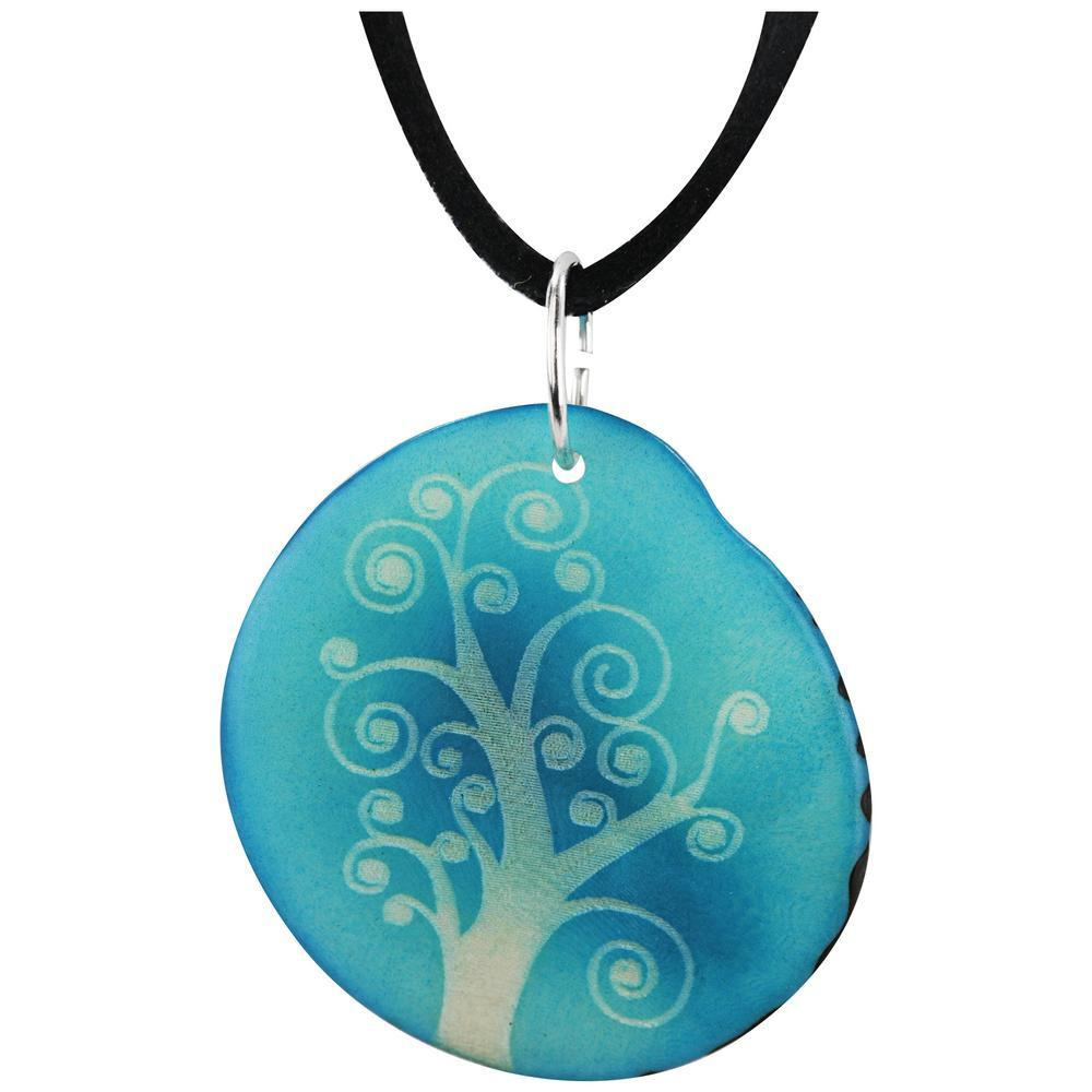 Tree Of Life Etched Tagua Necklace