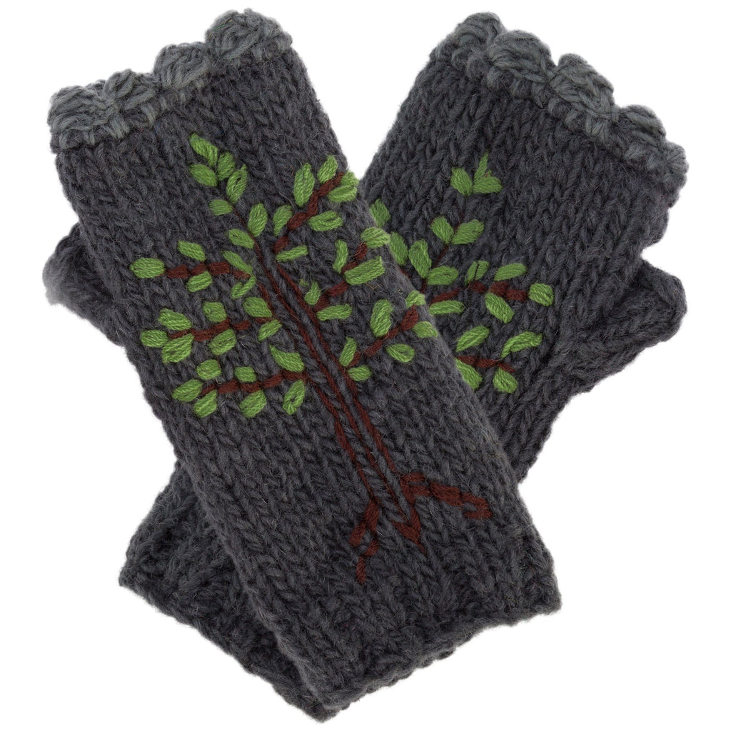 Tree Of Life Fingerless Mittens