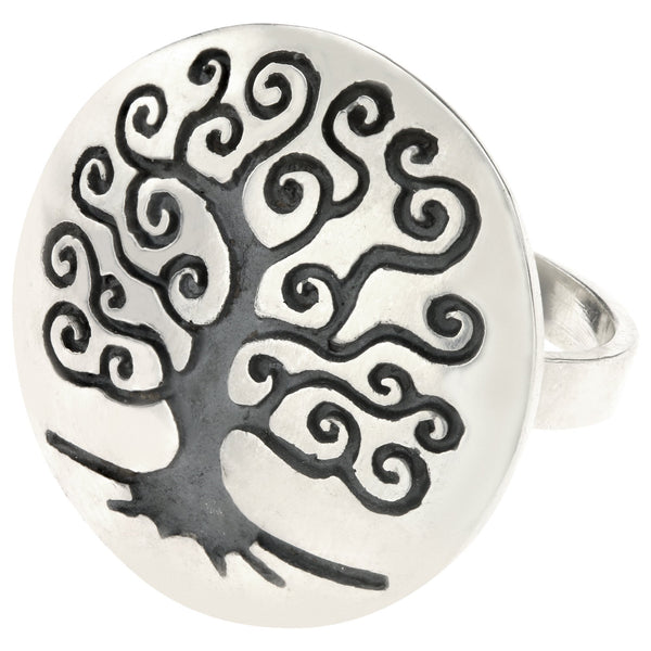 Tree Of Life Sterling Ring