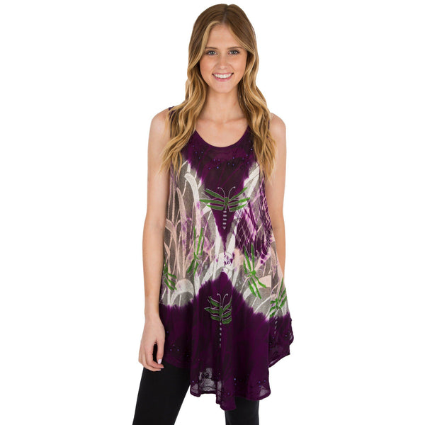 Twilight Dragonfly Sleeveless Tunic