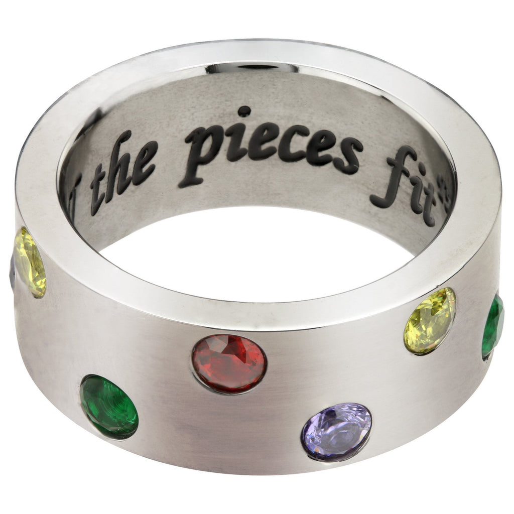 Until All The Pieces Fit™ Crystal & Titanium Ring