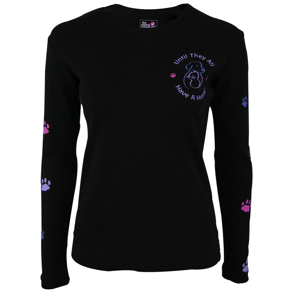 Until They All Have A Home™ Climbing Purple Paws Long Sleeve Tee