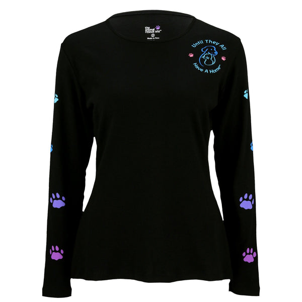 Until They All Have A Home™ Climbing Rainbow Paws Long Sleeve Tee