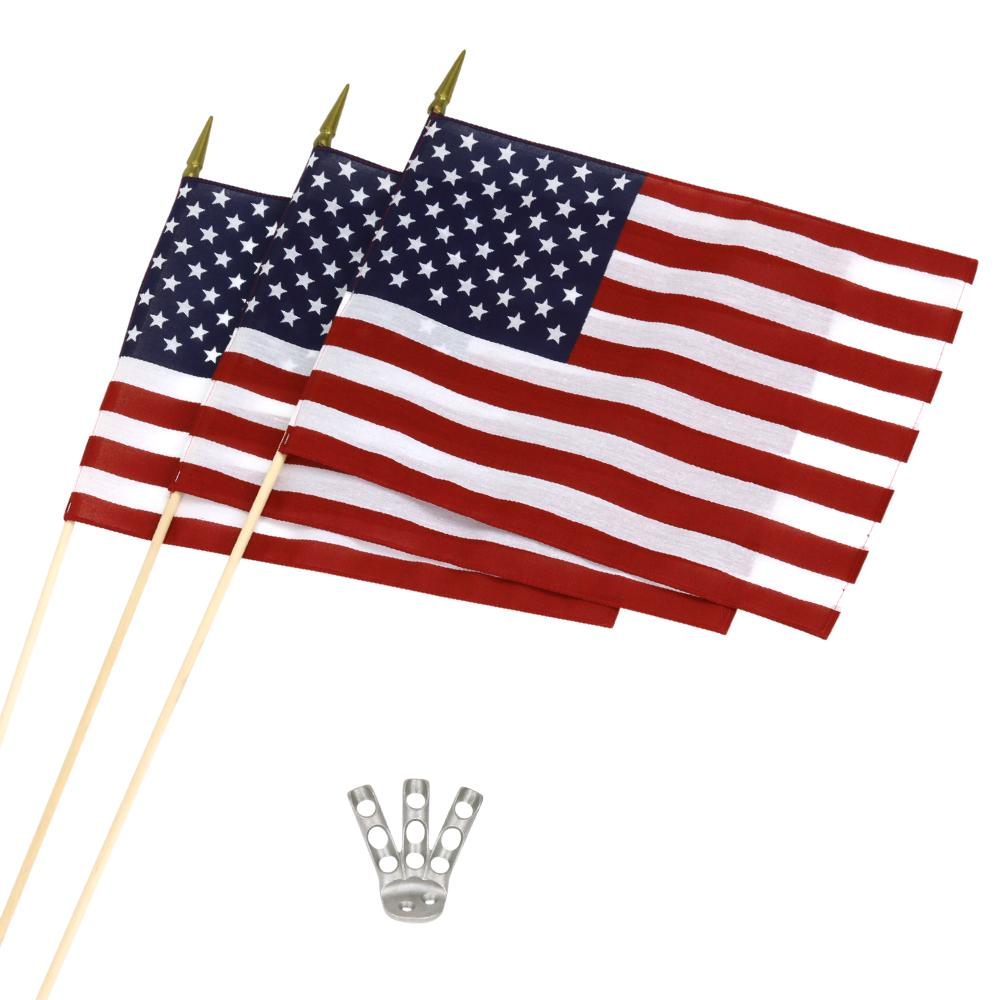 U.S.A. Flag Trio & Bracket Kit