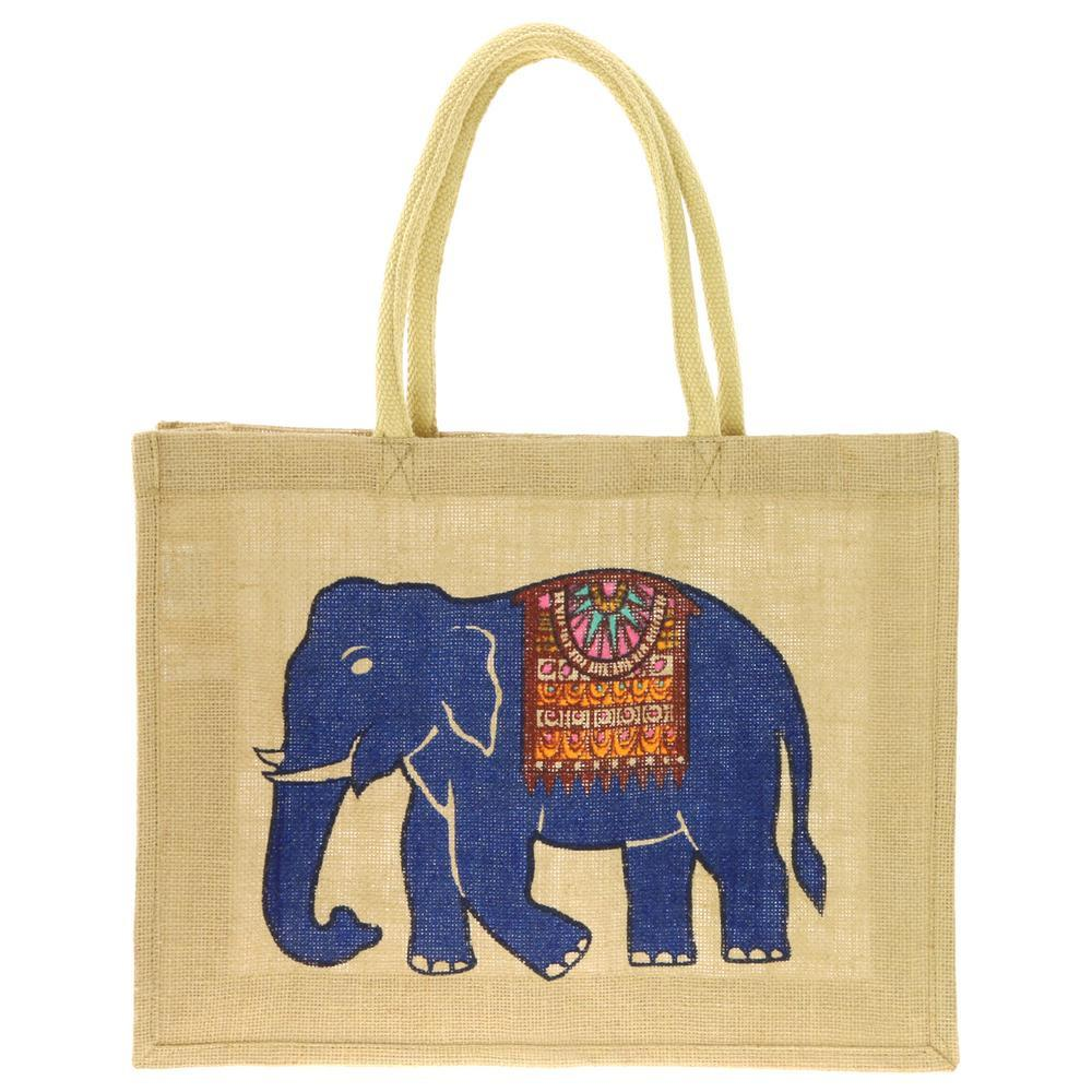 Vintage Matchbox Elephant Jute Bag