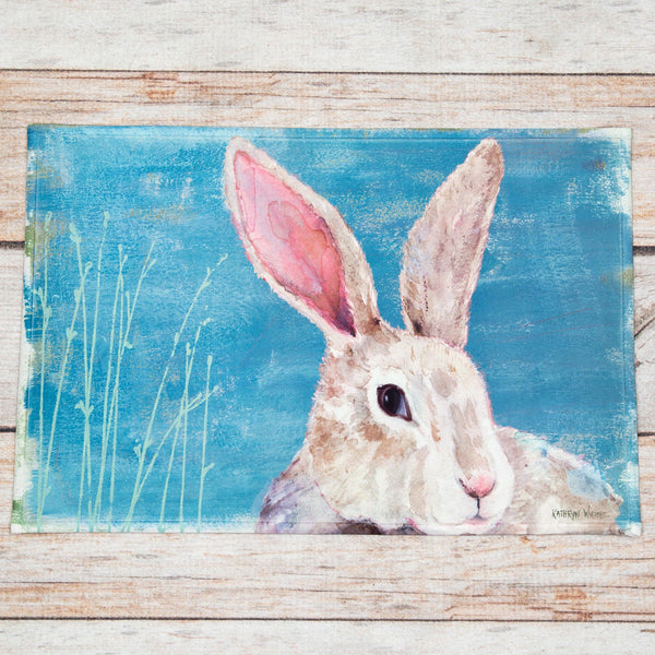 Watercolor Bunny Indoor/Outdoor Mat