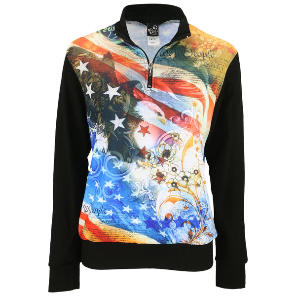 We The People Quarter Zip Top