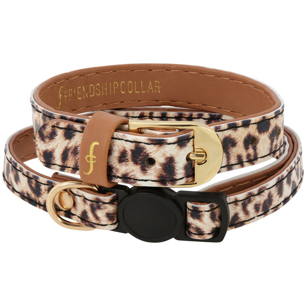 Wild & Free Friendship Cat Collar & Bracelet Set