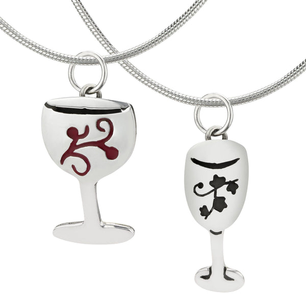Wine Glass Sterling Necklace