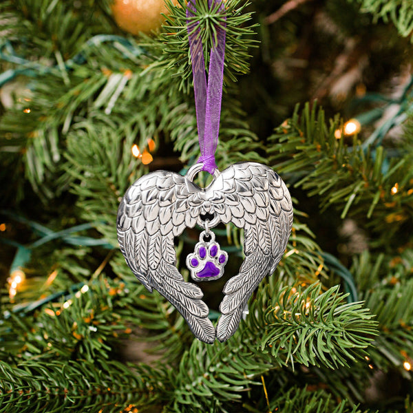 Wings Of An Angel Purple Paw Ornament