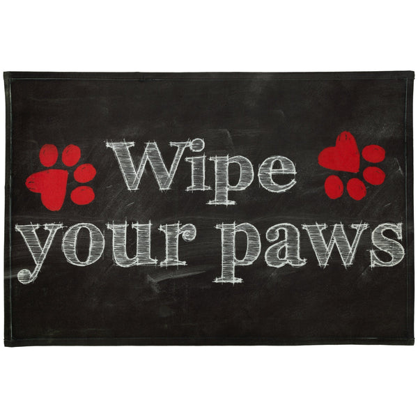 Wipe Your Paws Chalk Art Indoor/Outdoor Mat
