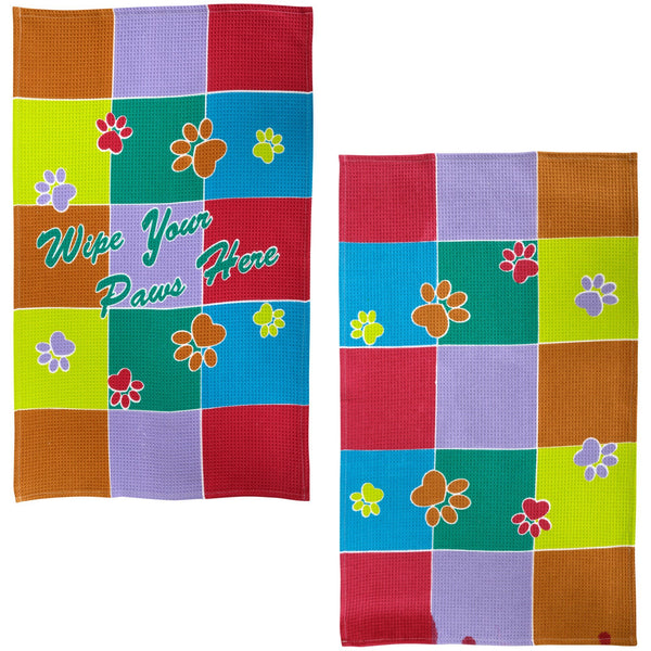 Wipe Your Paws Here Kitchen Towels Set